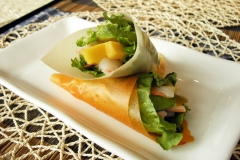Mango and Shrimp Salad Hand Rolls