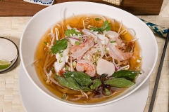 Seafood Pho in Traditional Beef Broth