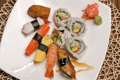 Sushi and Maki cooked fish 11pcs